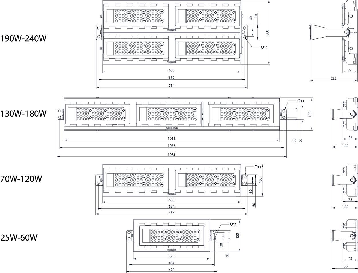 Bwp352 Led97 Nw 80w 220 240v Dm2 Mp1 Flowbase Philips Lighting Tunnel Diagram Up Tunnels For Optimum Safety