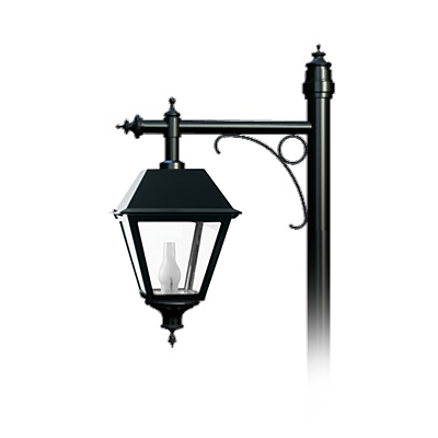 Square lantern blending traditional luminaire forms with modern lighting function