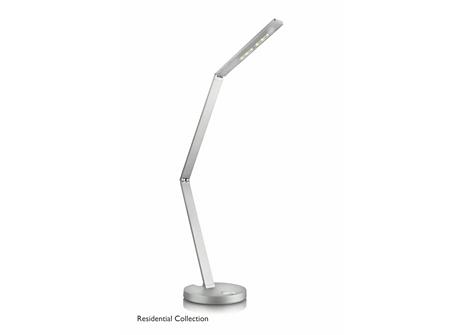 Fold table lamp aluminium 2x6.5W 18V