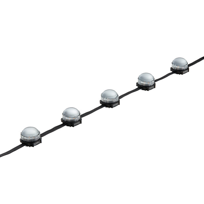 eW Flex Compact – Flexible strands of large high-intensity LED nodes with solid white light