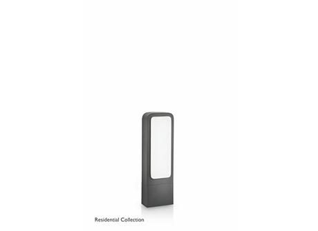 Flowerbed pedestal anthracite 1x11W 230V