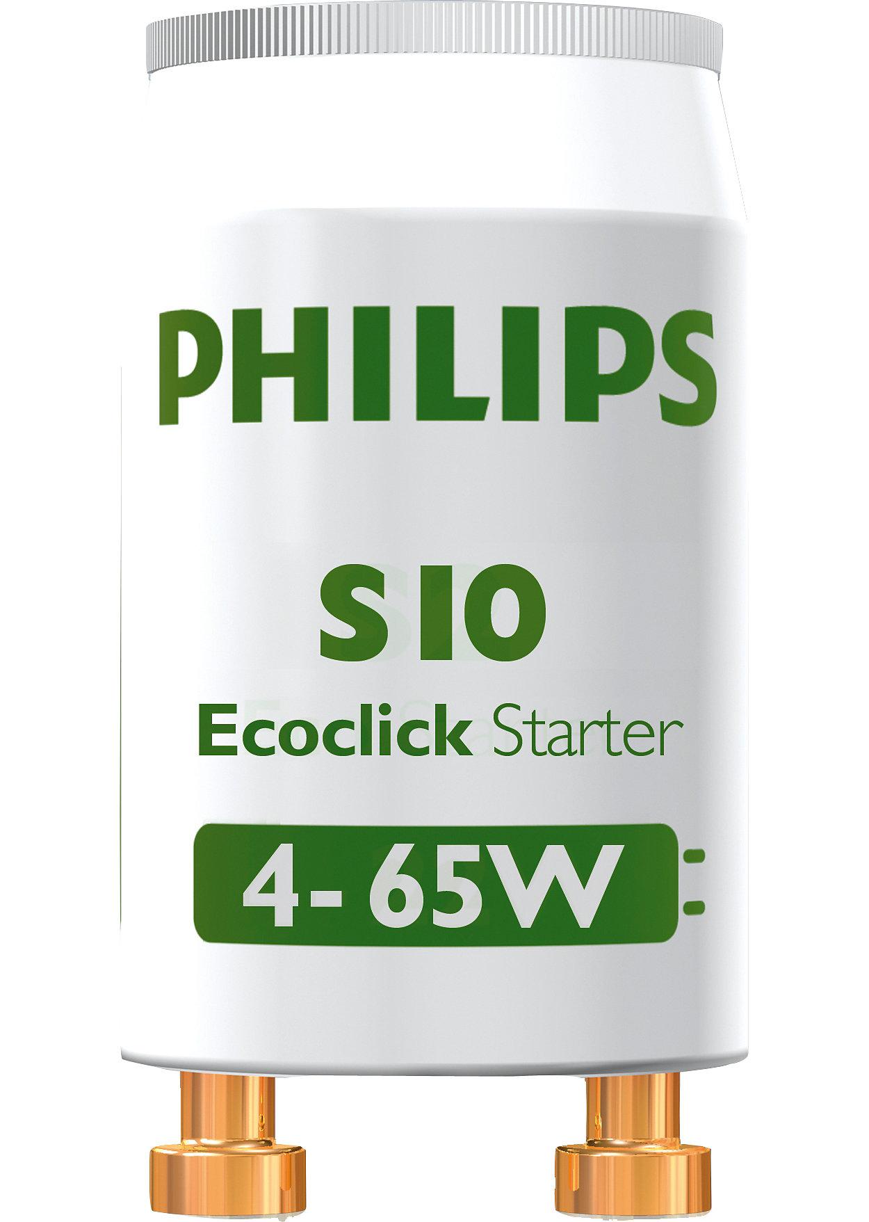 s10 4 65w sin 220 240v wh 2bc 10 green starters philips lighting. Black Bedroom Furniture Sets. Home Design Ideas