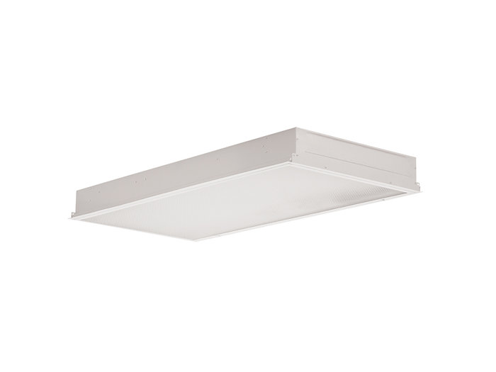 """2x4, 6 Lamp F32T8, .125"""" Prismatic Acrylic, Wet Location, Hinged/Latched/Inset Doorframe"""