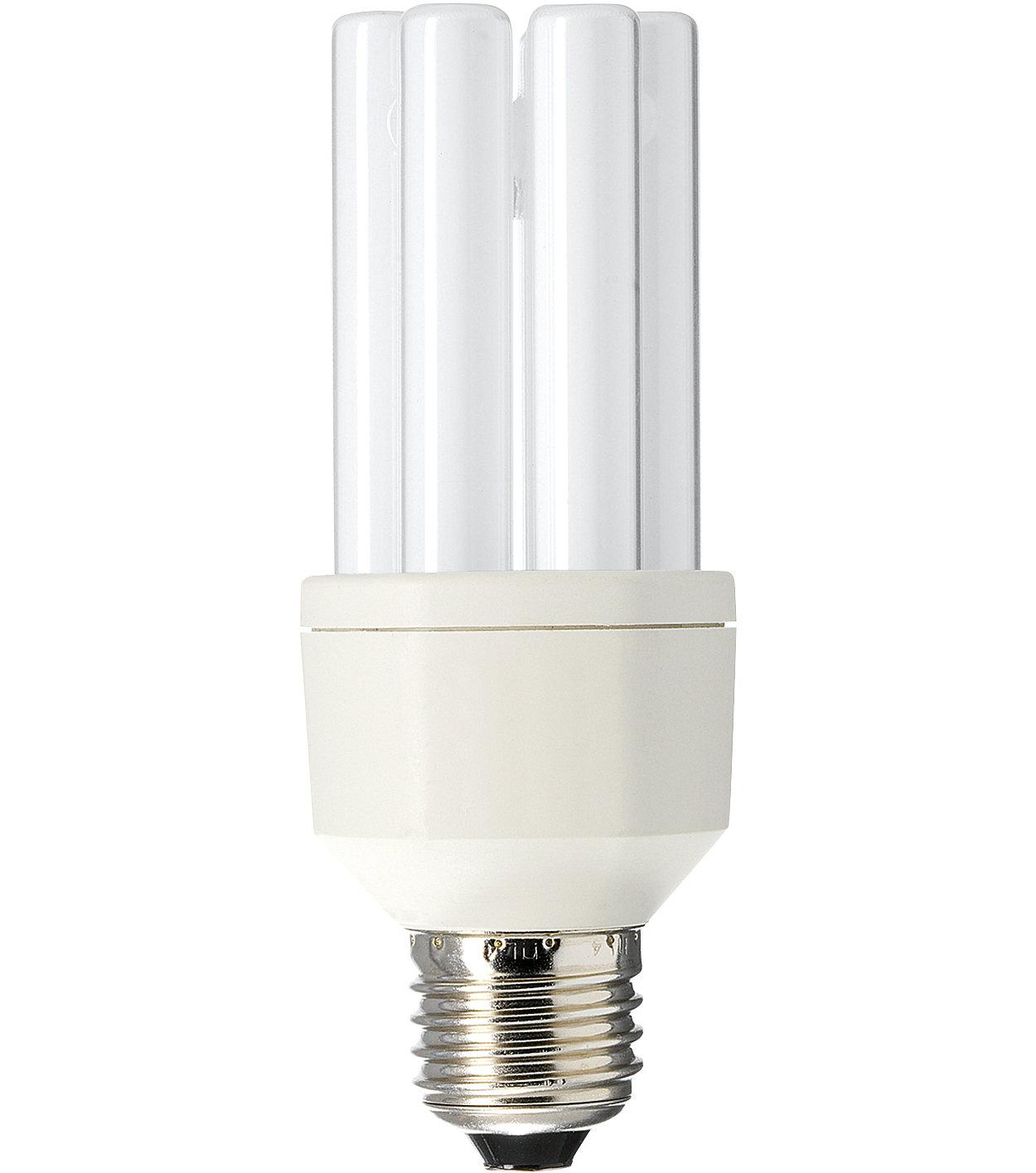 Energibesparende lyskilde som tåler å bli slått av og på