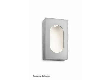 Hedgerow wall lantern grey 1x6W SELV