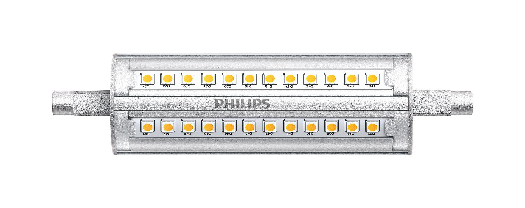 Apparecchio lineare R7S a tensione di rete con emissione luminosa molto elevata