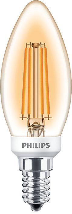 Classic LED zdroje s priznaným vláknom pre dekoratívne osvetlenie