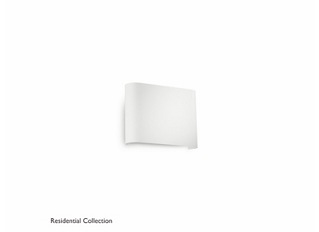 Galax wall lamp white 2x2.5W SELV