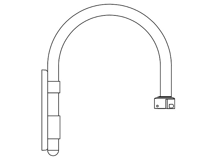 Arms, Wall Mount (HFW490)