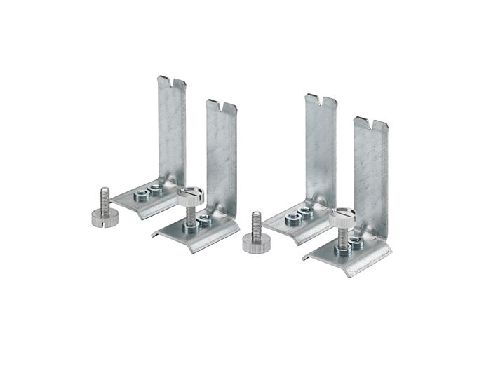 Set of four mounting brackets for concealed profile or plaster ceiling installation (included in packaging when ordering CPC/PCV)