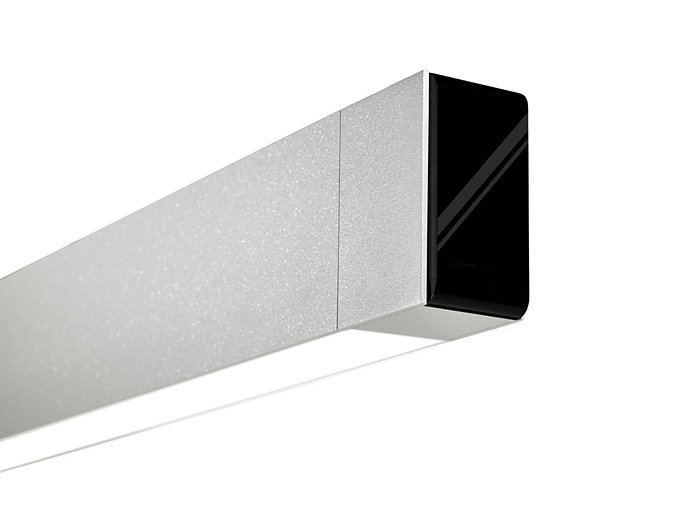 MicroSquare gen2 Wall Direct/Indirect Asymmetric LED, 3300 lm/4ft, 3000/3500/4000K Direct/Indirect, Flush Silk Lens Down - Asymmetric Wide-Throw Lens Up