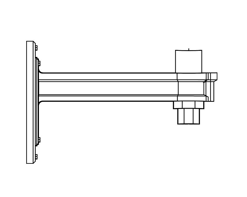 Arms, Wall Mount (PTW2780)
