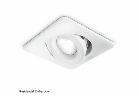 Ixion recessed white 1x6W SELV