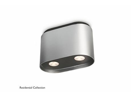 SEQUENCE plate/spiral aluminium 2x6W SEL