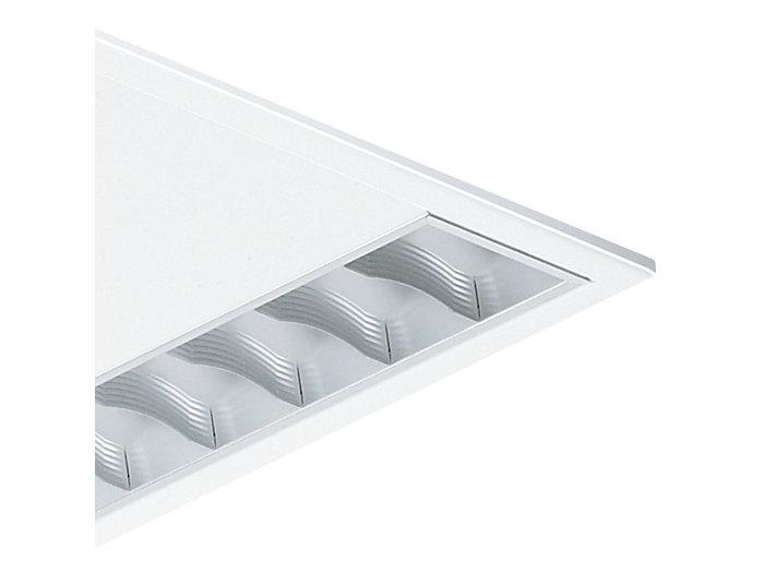Matte Microlamellenoptik aus reflexionsverstärktem Aluminuim mit flachen, profilierten Lamellen (M2-H) oder aus Standardaluminium (M2)