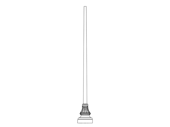 Pole (P5170), Round Tapered Pole