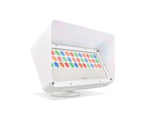 Blast Powercore gen4 LED wall washing fixture with Half Glare Shield