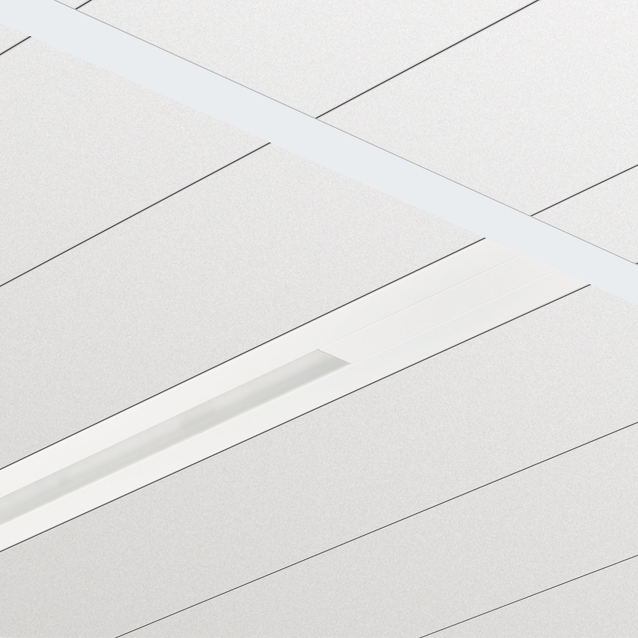 TrueLine, recessed - True line of light: elegant, energy-efficient and compliant with office lighting norms