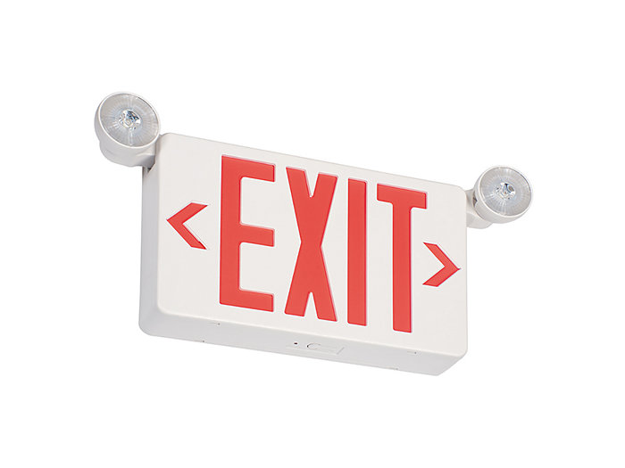 2 - 1W LED Combo, green letters, no remote capability