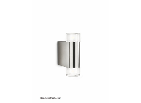 Nightwind wall lantern inox 2x4W SELV