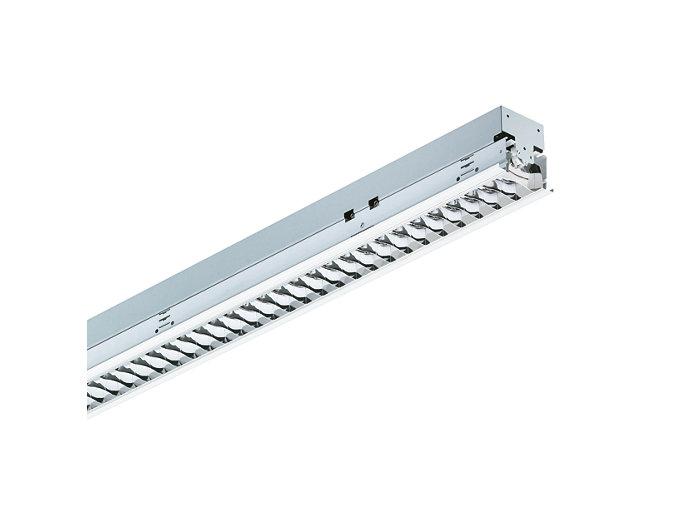 SmartForm Lichtband-Einbauleuchte TBS417 mit bildschirmtauglicher, hochglänzender OLC-Microlamellenoptik aus silberbeschichtetem, hocheffizientem Aluminium (C8-VH) oder hochwertigem Aluminium (C8), 1-lampig