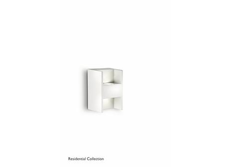 Metric wall lamp white 2x2W SELV