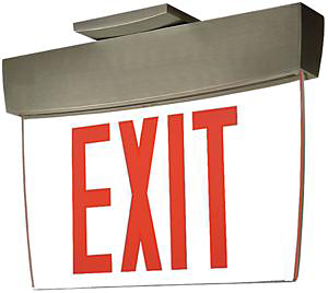 Caliber Series Edge-Lit Exit