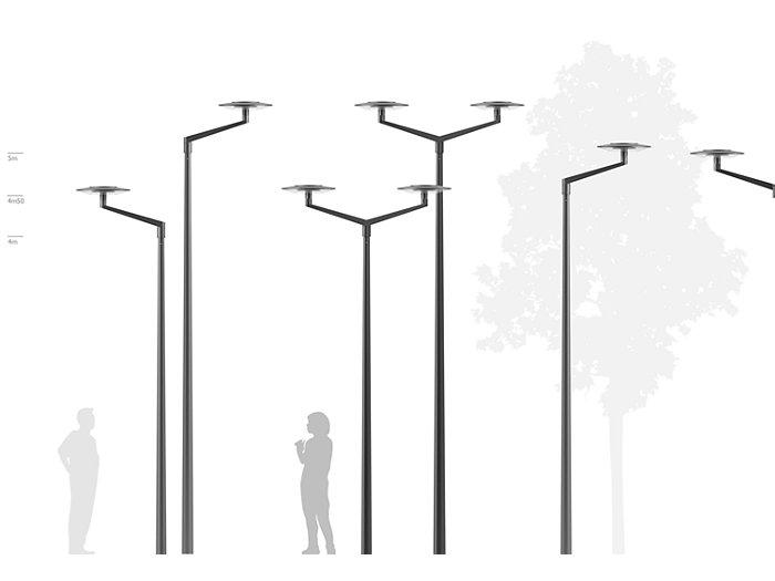 2D rendering CitySphere Bracket for Ø 76 pole