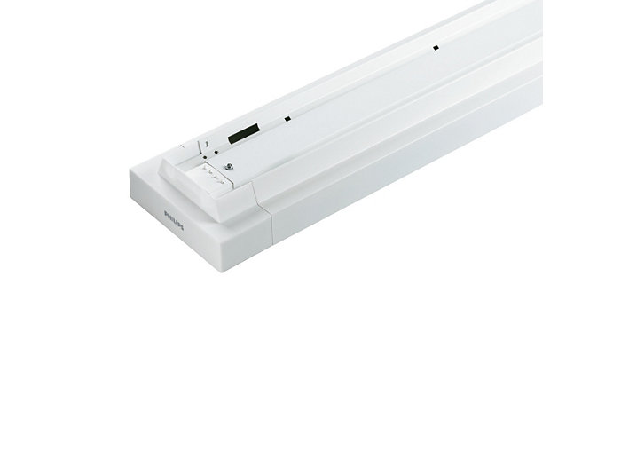 The luminaire is supplied with a top reflector that provides a direct light distribution