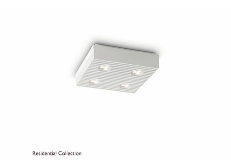 Row ceiling lamp white 4x6W SELV