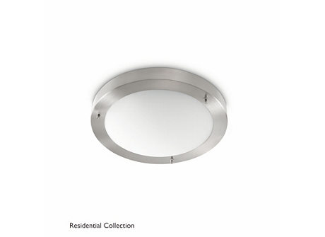 Salts ceiling lamp nickel 1x23W 230V