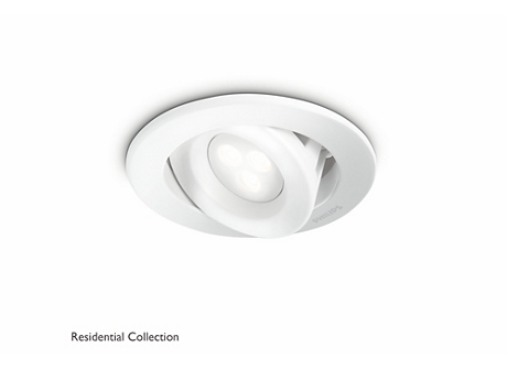 Carnet recessed white 1x6W SELV