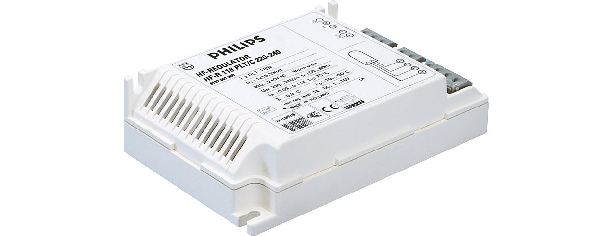 HF-Regulator II for PL-T/C – Dimming: a next step in energy saving