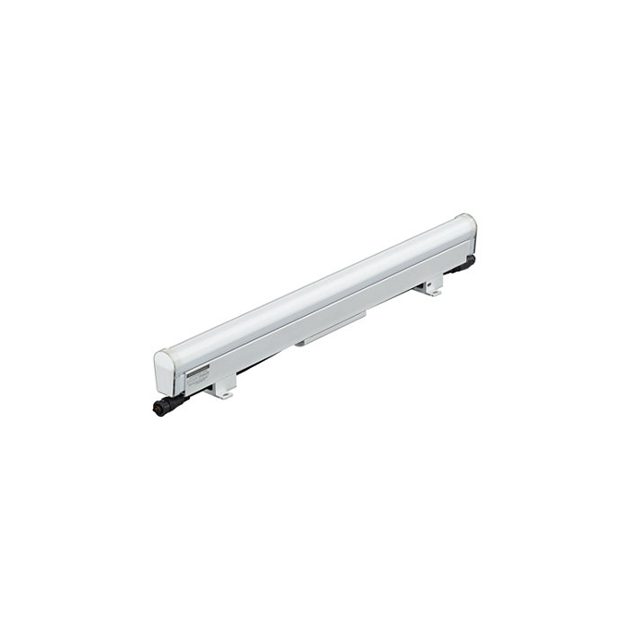 High resolution media direct view linear LED luminaire with intelligent color light