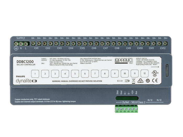 Front of the DDBC1200 Signal Dimmer Controller