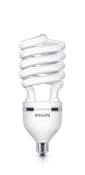 Энергосберегающая лампа с витой колбой и максимальной светоотдачей.