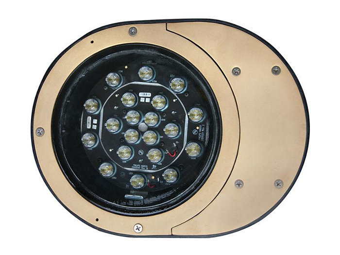 Inground, Composite, 18W LED, 3000K, 120V
