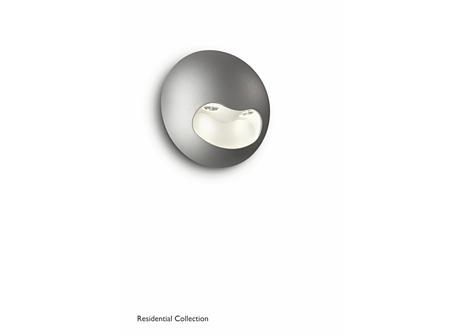 Milio wall lamp grey 2x2W SELV