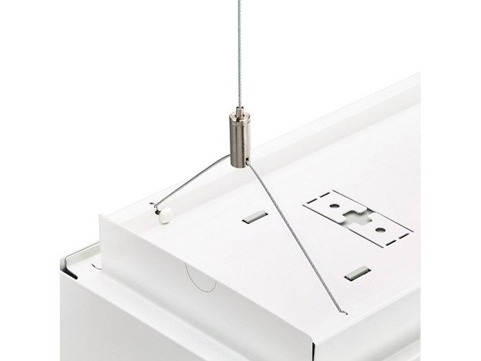 Triangular suspension set for rectangular PowerBalance luminaire
