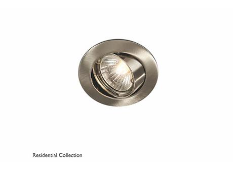 Bombay round recessed nickel 1x50W 230V