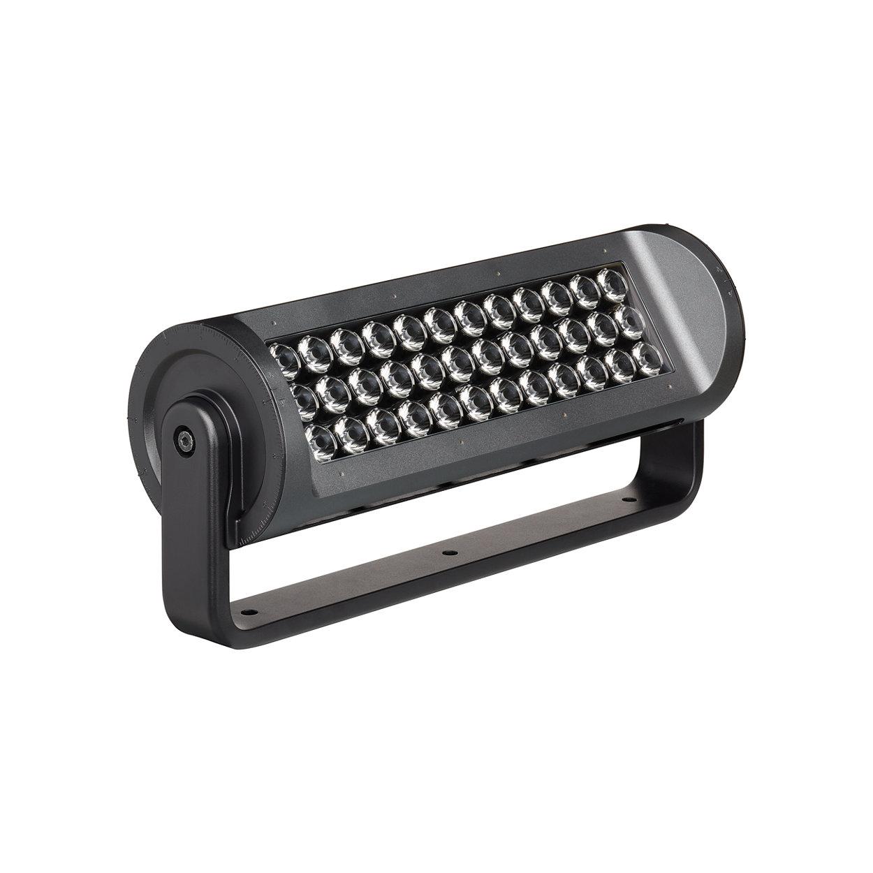 Superieur schijnwerper LED-armatuur met een ver straalbereik voor buiten met Philips IntelliHue-technologie.