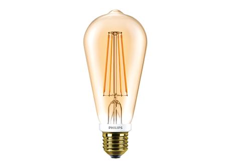 LEDClassic 50W ST64 E27 2000K GOLD D