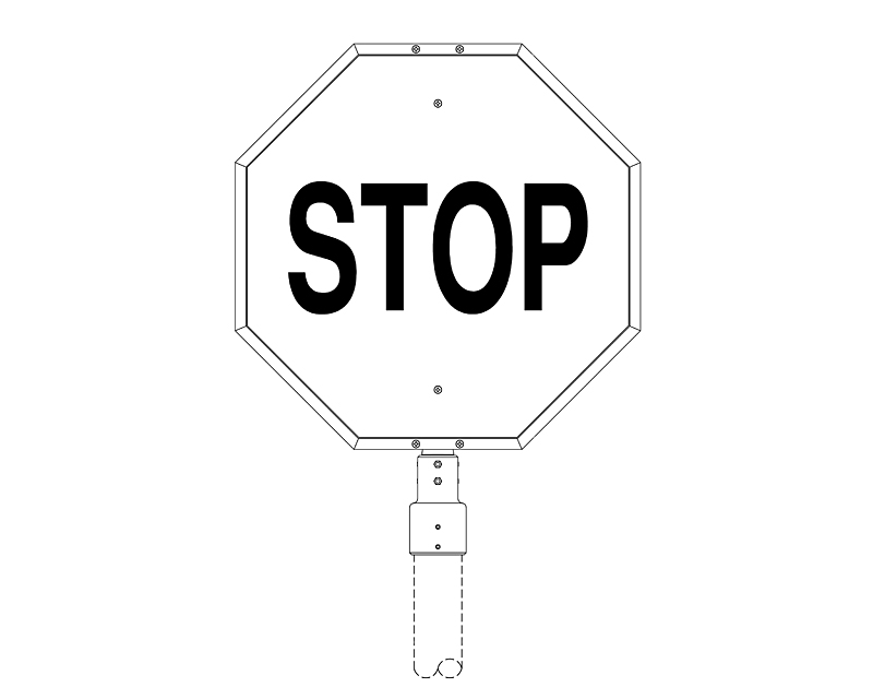 Stop Sign Frame with Post Fitter (232-3)