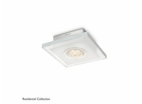 Quart ceiling lamp aluminium 1x6W SELV
