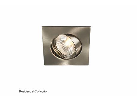 Bombay square recessed nickel 1x50W 230V