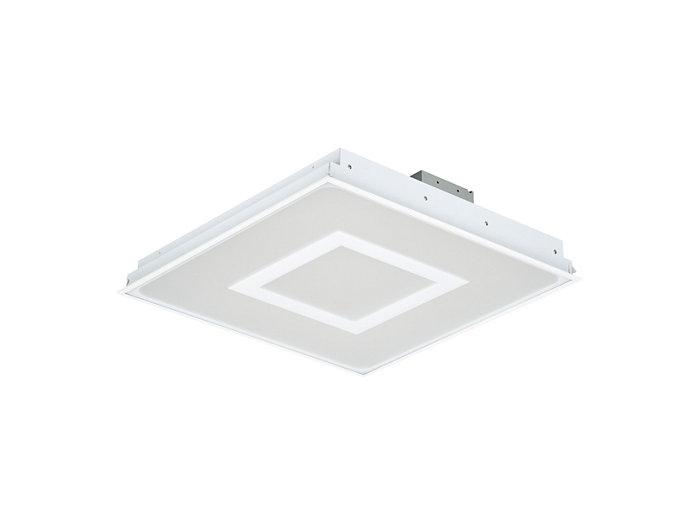 SmartBalance, quadratische LED-Einlegeleuchte mit SmartBalance-Signatur für Deckensysteme mit sichtbaren Tragprofilen, Modul 625, RC482B VPC