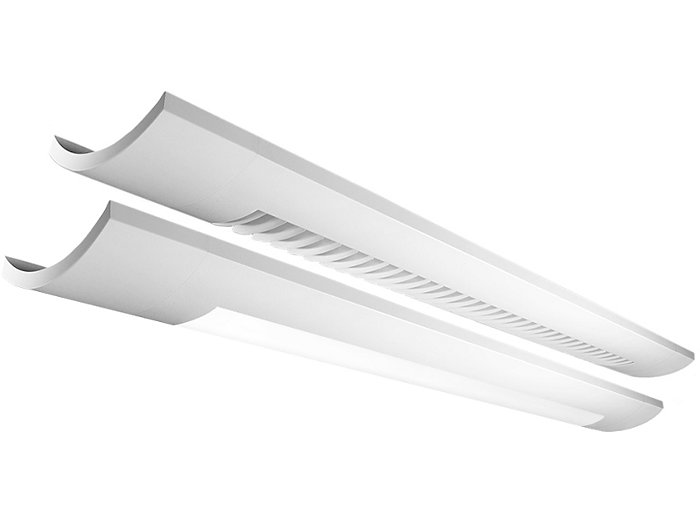 Sona 1LC Down wall LED, 2200 lm/4ft, 3000/3500/4000K Direct/Indirect, White Louver Down - Diffuser Up (80% Down)