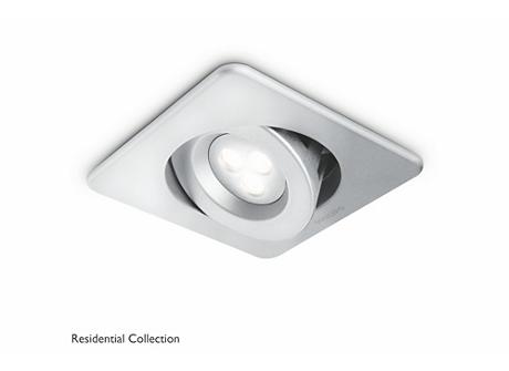 Ixion recessed aluminium 1x6W SELV