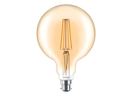 CLA LEDGlobe D 7-50W G120 B22 820 GOLD