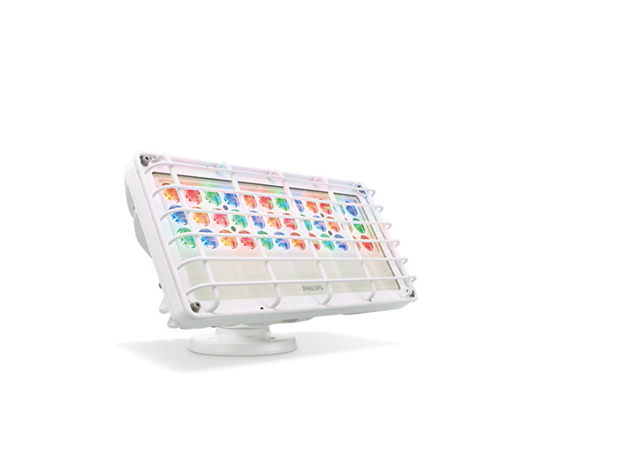 Blast Powercore gen4 LED wall washing fixture with Rock Guard